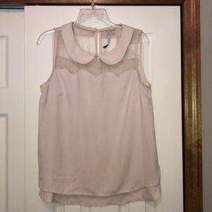 Lauren Conrad scalloped collared blouse